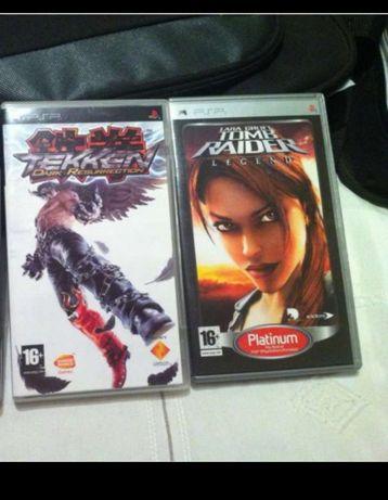 Jogos PSP Tomb Raider e Tekken