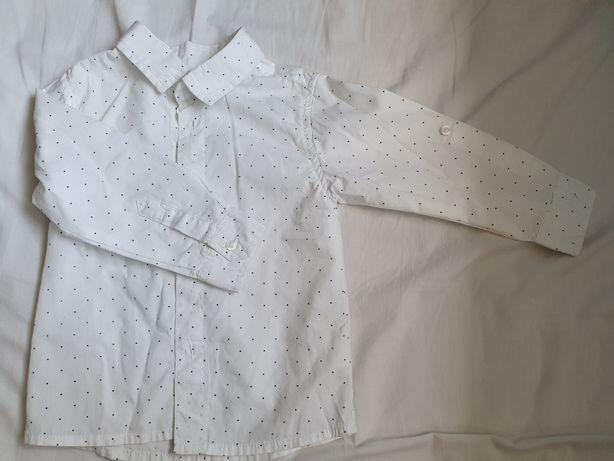 Biała koszulka w kropki reserved 74
