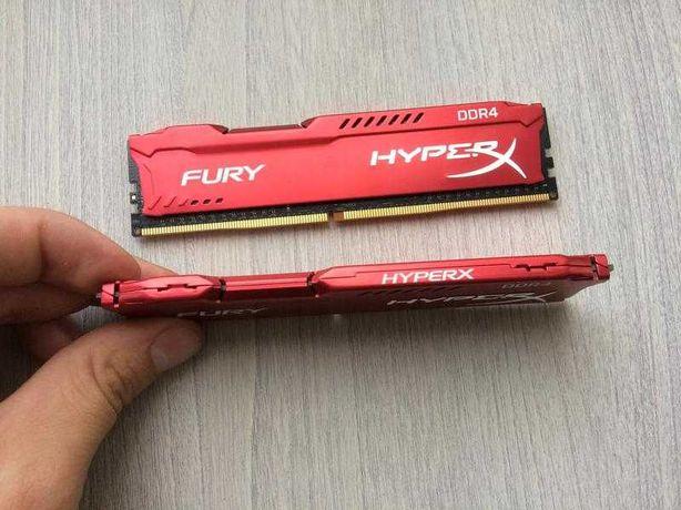 Оперативная память DDR4 Kingston Hyperx fury red 16 gb (2x8) xmp RED