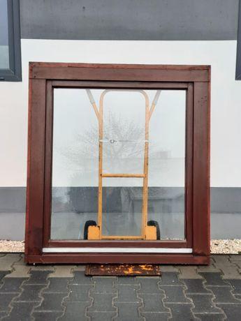 Okno Drewniane Mahoniowe 121 x 140 Używane OKNA z Niemiec WYSYŁKA