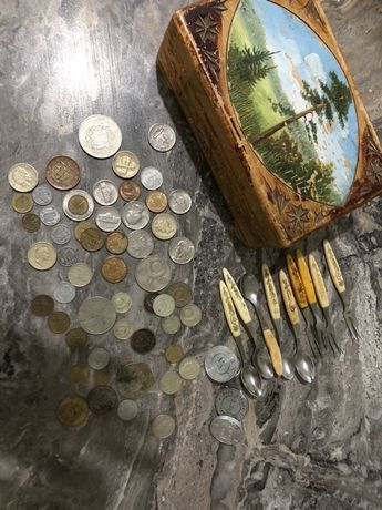 Старинные монеты. 2 копейки 1993, 1 копейка 1992.