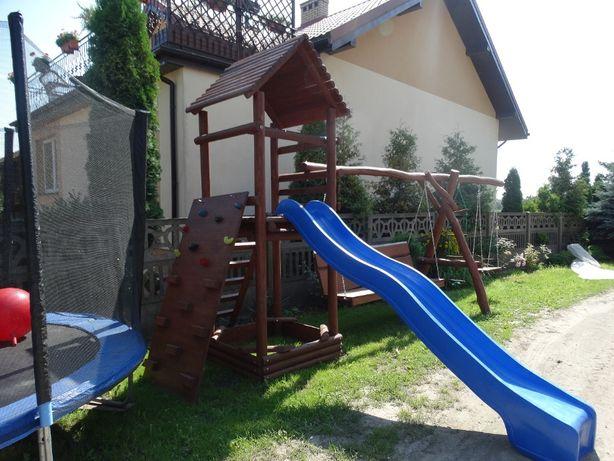 plac zabaw drewniany dla dzieci Wojtek, huśtawka, meble ogrodowe