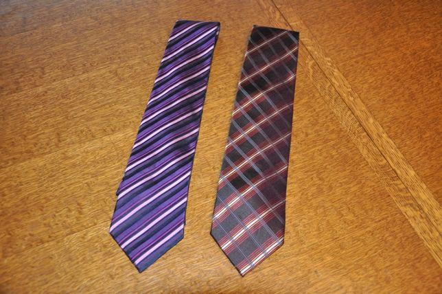 WYSYŁKA 5 ZŁ Krawat męski jedwabny fiolet bordo