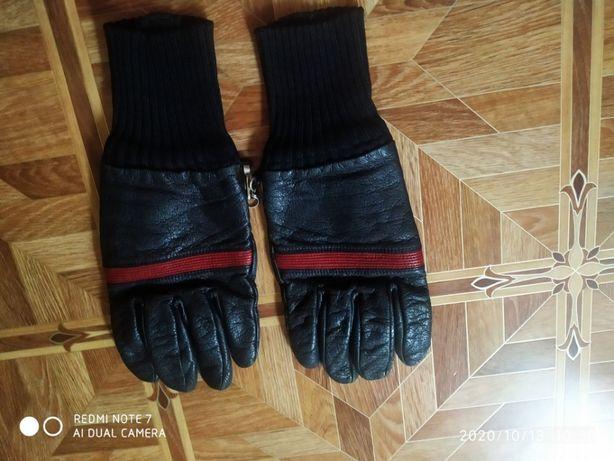 Мотоперчатки кожа зима