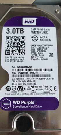 Dysk twardy WD purple 3TB idealny do pracy ciągłej i na archiwum, NAS
