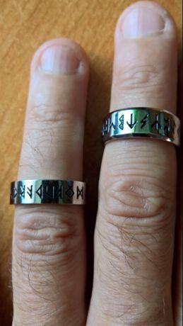 Pierścień Vikingów Runy Amulet - TYTAN