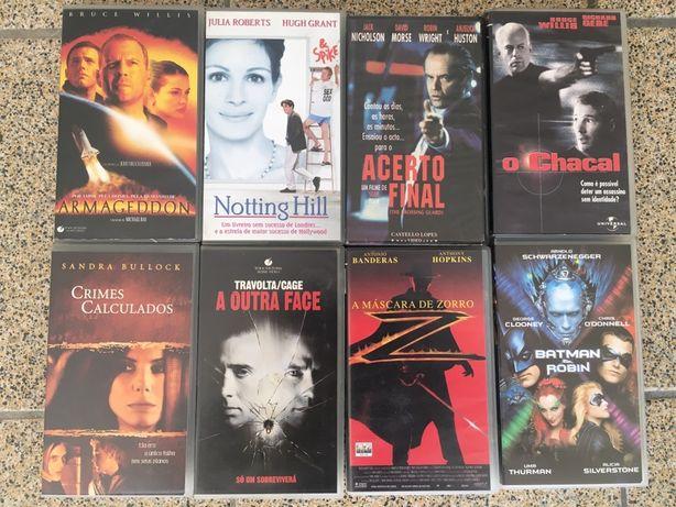 Cassetes VHS Filmes Musicais Desporto Animação