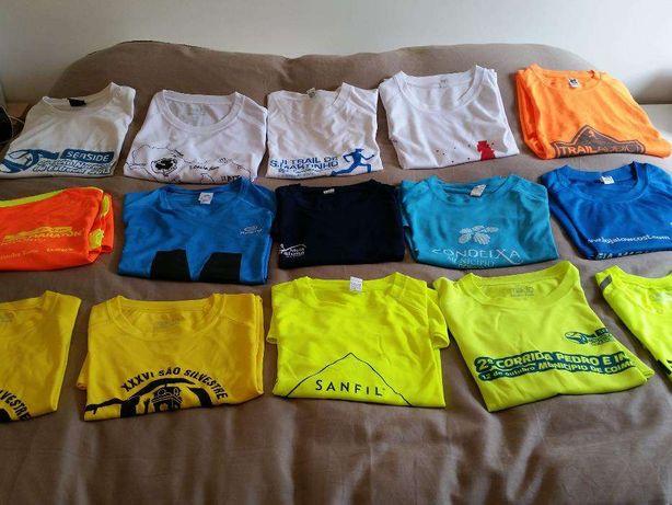 Lote de 3 T-shirt Running (futebol/squash/etc) - Malha técnica