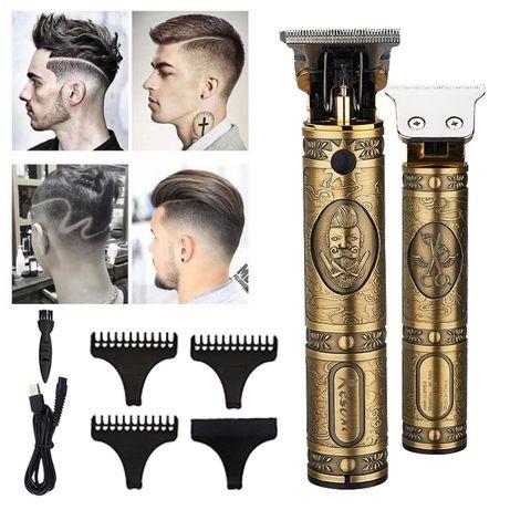 Máquinas Novas com Kit cabelo e barba Vintage Profissional
