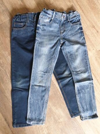 2 pary spodni jeansowych rozm 128 dla chłopca