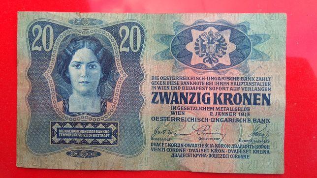 Старовинна купюра zwanzig kronen