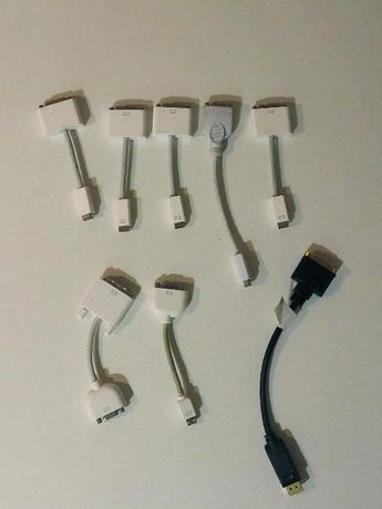 adaptadores apple mini DVI p/ macbook white