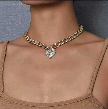 Цепь подвеска цепочка золото сердце  ожерелье чокер кулон не Кондратюк
