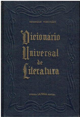 11357 Dicionário Universal de Literatura de Henrique Perdigão