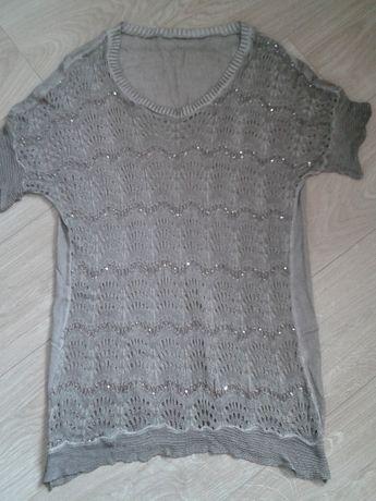 Bluzka 42/44 M/L sweter tunika ażurowa damska