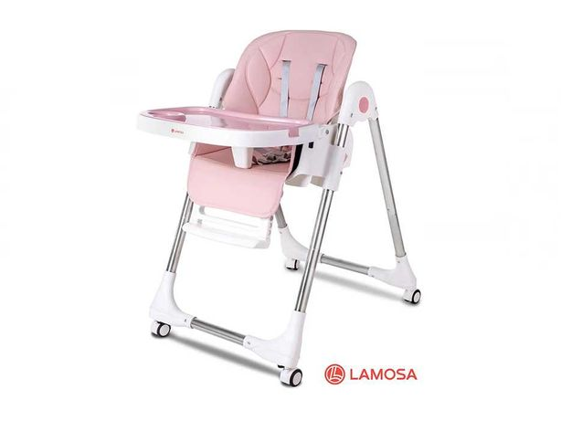 Стульчик для кормления LAMOSA HAPPY DELUXE розовый