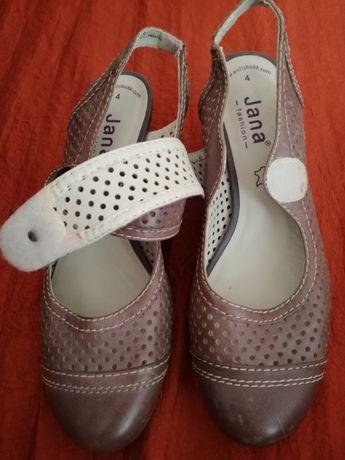 Sandałki z zakrytymi palcami, z rzepem, rozmiar 4 - pasuje na 37, Jana