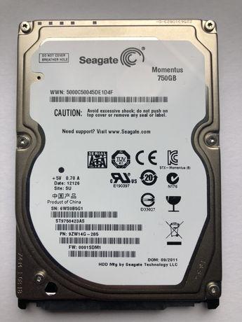 Жесткий диск HDD SEAGATE Momentus 750 Gb 2.5 дюйма ST9750423AS