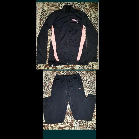 Fato de treino preto e rosa PUMA - tamanho M/L