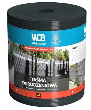 Taśma ogrodzeniowa WDB Premium 19x26 mb Polipropylen