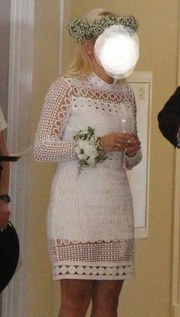 Sukienka ślubna  do ślubu + półhalka
