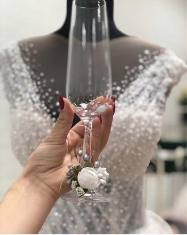 Бокали; бокали на весілля ; келихи ; бокалы на свадьбу ;