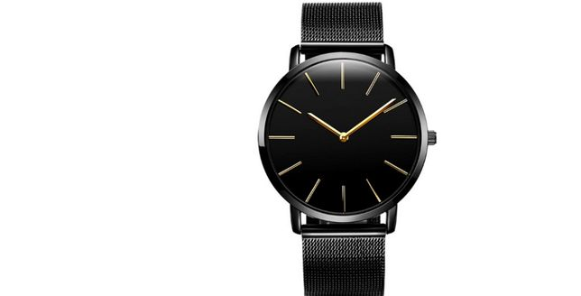 Zegarek męski-model ZN82/pasek mesh;kolor czarny