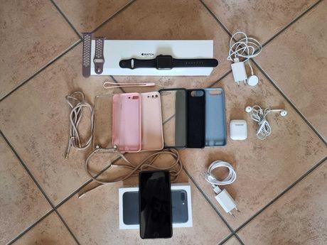 Iphone 7 Plus 128gb + Apple Watch Serie 3 + Airpods + acessórios