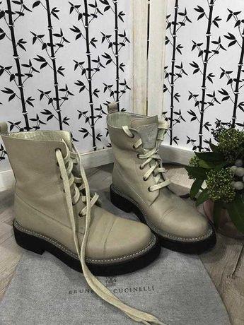 Сапоги ботинки натуральная кожа оригинал Brunello Cucinelli ( 40 )