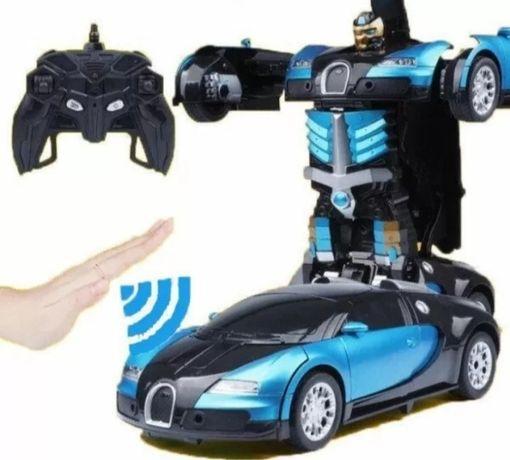 Машинка радиоуправляемая трансформер Robot Car Bugatti Size12