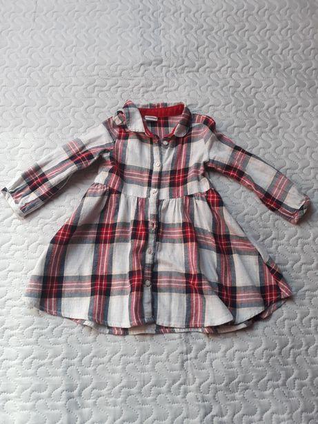 Sukienka szmizjerka H&M