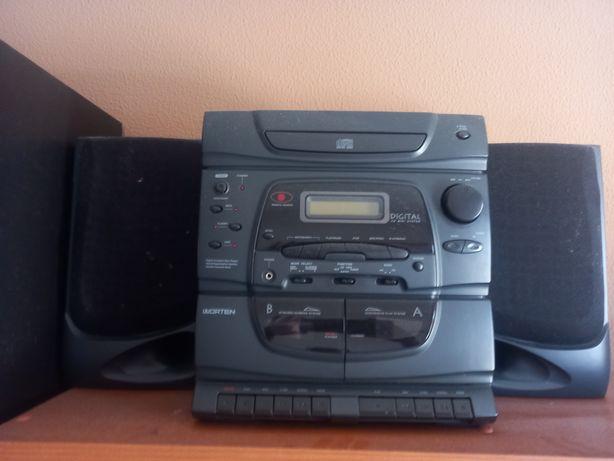 Gravador de CD e cassete