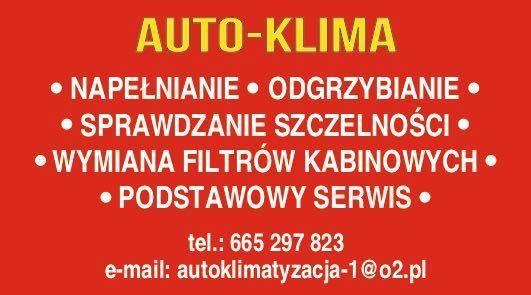 AUTO-KLIMA/najtaniej/odgrzybianie/napełnianie/szczelność/Zabrze