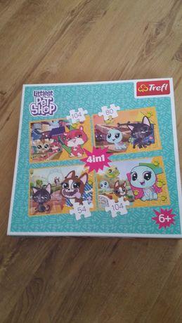 Puzzle littlest pet shop 4in1 trefl zabawka zabawki