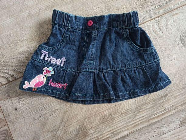 Spódniczka jeansowa 6-12 miesięcy