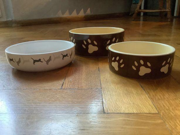 Zestaw 3 misek ceramicznych dla kota / psa