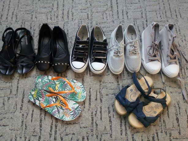 zestaw butów/ roz 37-38/ wkłaka 23,5 cm /baleriny, sandały, trampki