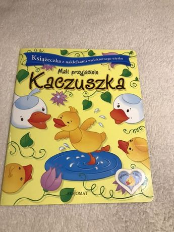 Książeczka z naklejkami wielokrotnego użytku - Kaczuszka