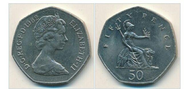 50 пенсов 1982 года