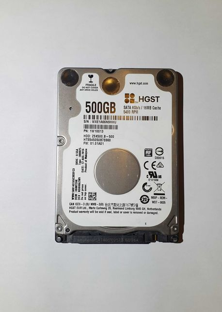 """Жесткий диск HGST 500GB 16MB 2.5"""" SATA III"""