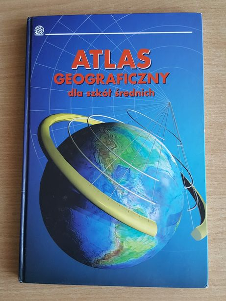 ATLAS geograficzny dla szkół średnich, geografia, mapy, kartografia