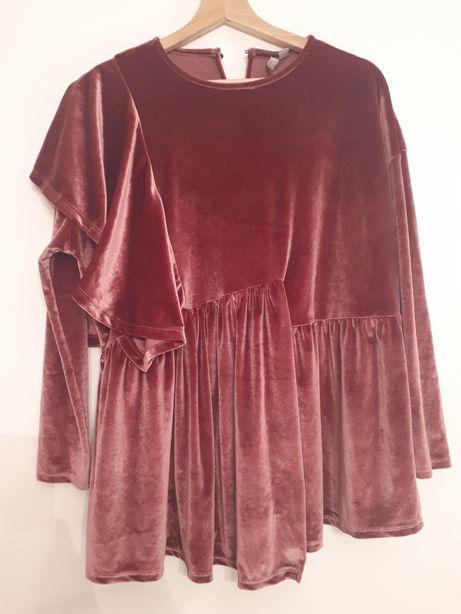 Bluzka welurowa asos/ ciążowa