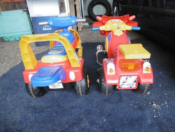 Jeździki elektryczne dla dziecka. Akumulator. 85zł za 2 szt. Zamiana.