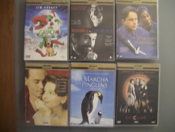 6 FILMES Coleção Grande Filmes Expresso ORIGINAIS COMO NOVOS