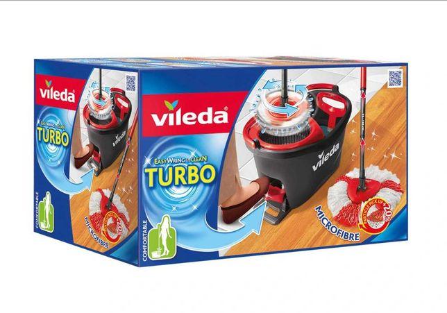 Mop obrotowy Vileda Easy Wring & Clean Turbo + wkład do mopa GRATIS