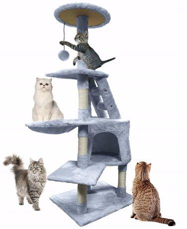 duzy drapak domek drzewko wieza dla kota