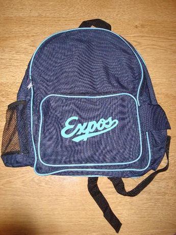 Granatowo niebieski plecak Expos