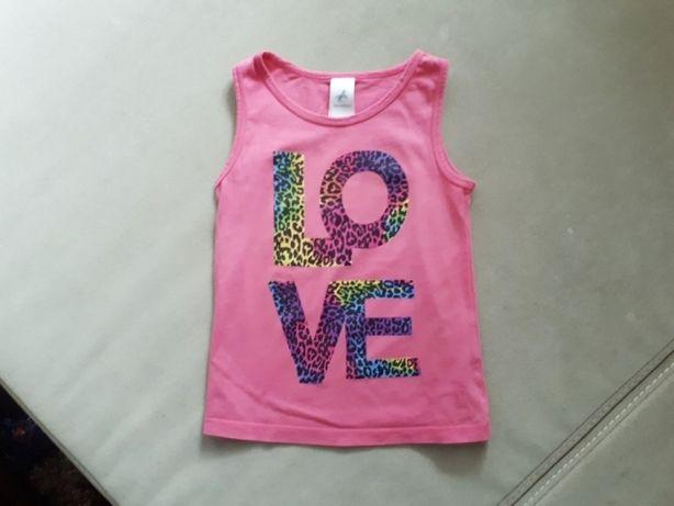Palomino - C&A, Bluzka bez rękawków, 110, panterka, różowa, koszulka