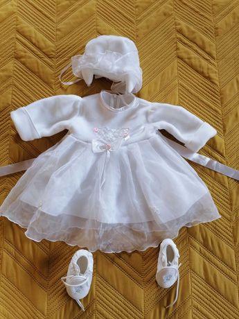 Ubranko do chrztu dla dziewczynki roz. 68