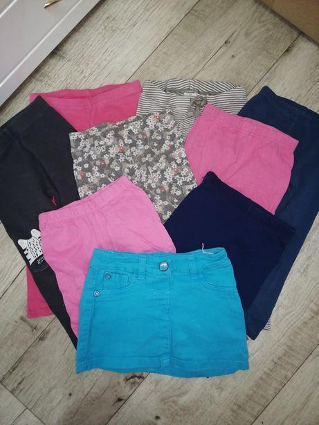 Трикотажные лосины, карри, шорты и джинсовая юбка